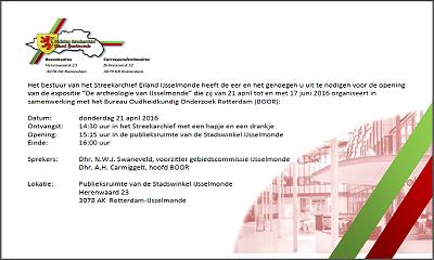 """Expositie """"De archeologie van IJsselmonde"""" i.s.m. BOOR"""