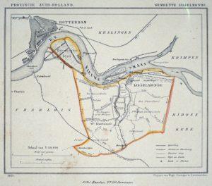 Kaart IJsselmonde (1865)