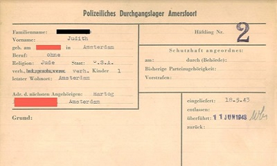 Rode Kruis digitaliseert archief Kamp Amersfoort