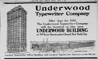 Nieuwe aanwinst: een Underwood nr. 5 typemachine