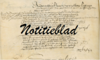 Invulblad voor genealogische onderzoeksgegevens