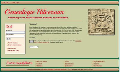 Genealogie Hilversum e.o.